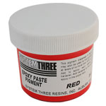 SYSTEM THREE RED EPOXY PASTE PIGMENT - 2 OZ.