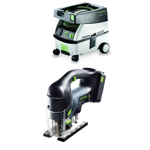 FESTOOL PSBC 420 EB CARVEX CORDLESS D-HANDLE JIGSAW & CT MINI EXTRACTOR PACKAGE