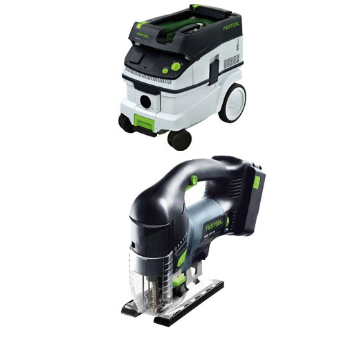 FESTOOL PSBC 420 EB CARVEX CORDLESS D-HANDLE JIGSAW & CT 26 E EXTRACTOR PACKAGE