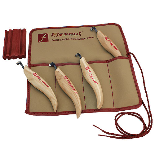 Flexcut KNL150 4 Piece Left Handed Scorp Set