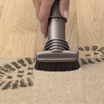 DYSON STIFF BRISTLE BRUSH - IN USE