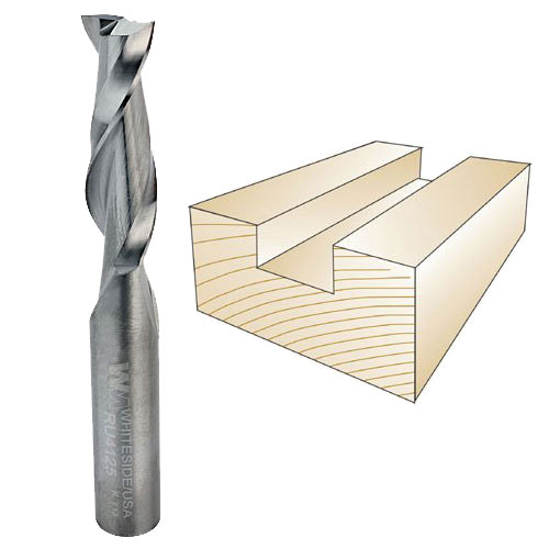 Whiteside RU4125 Spiral Up Cut Router Bit, 3/8-Inch Shank x 3/8-Inch CD x 1-1/4-Inch CL