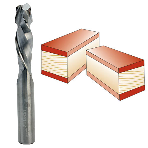 Whiteside UD4122 Spiral Up / Down Cut Router Bit, 3/8-Inch Shank x 3/8-Inch CD x 1-1/4-Inch CL