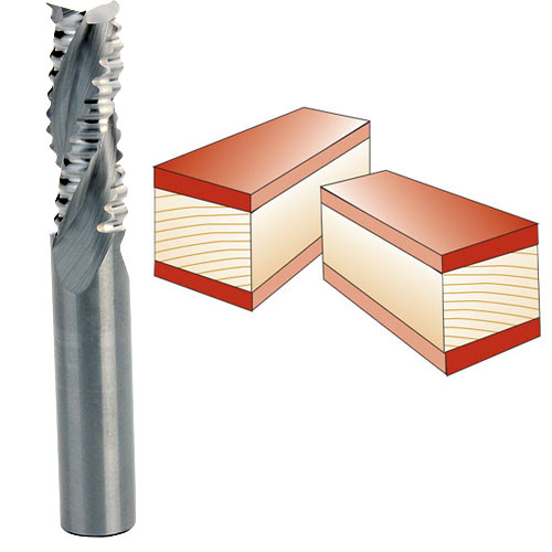 Whiteside #RU4000H Spiral Up Cut Roughing Bit - 3/8 Inch SH X 3/8 Inch CD X 1 Inch CL