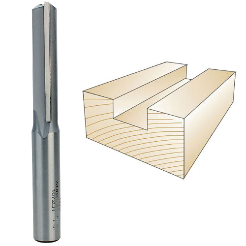 Whiteside 1072LH Left Hand Straight Router Bit, 1/2-Inch Shank x 1/2-Inch CD x 2-Inch CL