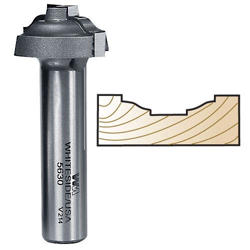 Whiteside 5630 Ogee Stile Profile Bit for MDF Doors 1/2 Inch SH X 1-1/4 Inch LD