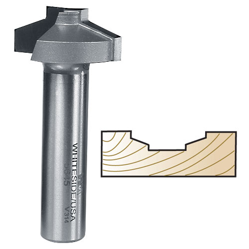 WHITESIDE #5645 STRAIGHT STILE PROFILE BIT FOR MDF DOORS - 1/2 INCH SH X 1-1/4 INCH LD