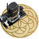 M-Power CRB7 Router Base MK3 - Small Circle Cutting