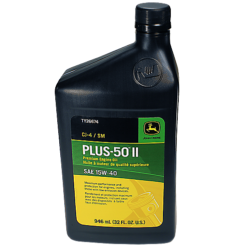 JOHN DEERE #TY26674 PLUS-50 II SAE 15W-40 PREMIUM ENGINE OIL - 32 OZ
