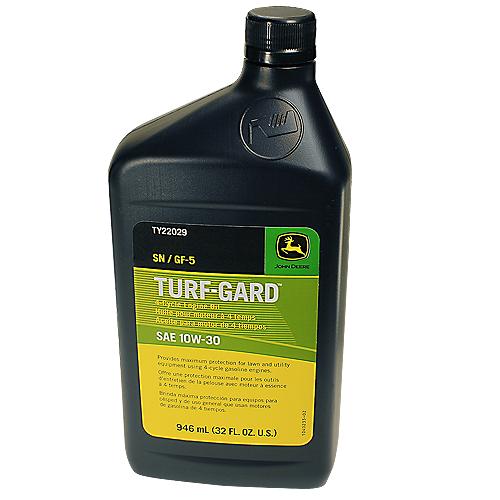 JOHN DEERE #TY22029 TURF-GARD SAE 10W-30 4-CYCLE ENGINE OIL - 32 OZ