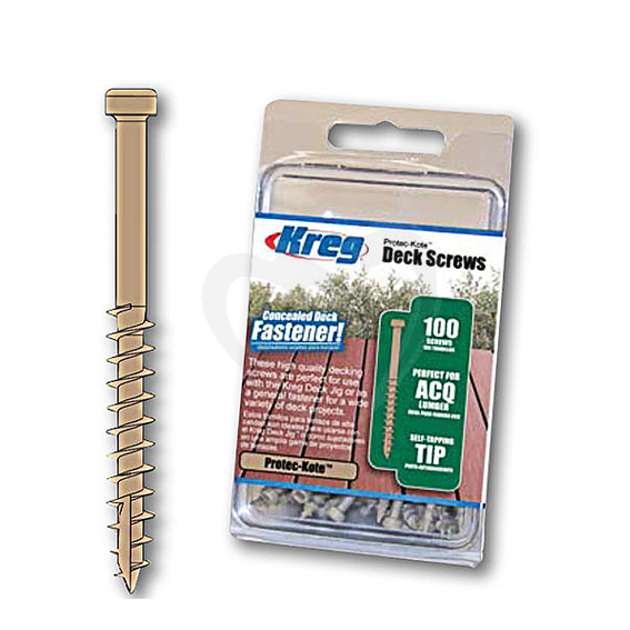 Kreg SDK-C2W-100 Protec-Cote Deck Screw, 100 Ct.