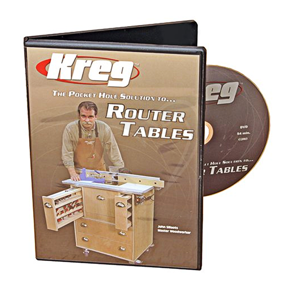 Kreg V06-DVD The Pocket Hole Solution to Router Tables DVD