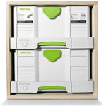 FESTOOL SYS-AZ DRAWER SET 5X DO-IT-YOURSELF SYS-PORT - DRAWERS IN CUSTOM CABINET WITH SYSTAINERS