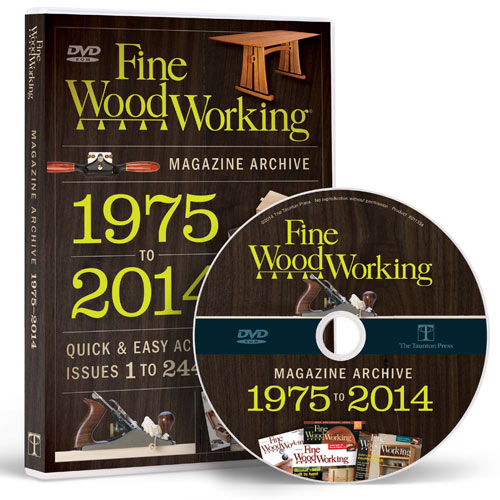 FINE WOODWORKING MAGAZINE 2014 ARCHIVE DVD-ROM