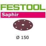 FESTOOL  496623 SAPHIR P80 DISC ABRASIVES - 150MM - 5 PK.