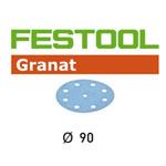 FESTOOL  498326 GRANAT P500 DISC ABRASIVES - 90MM - 100 PK.