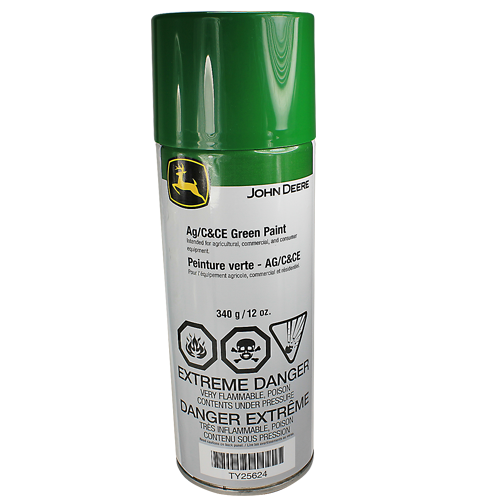 John Deere #TY25624 AG/C & CE Green Spray Paint, 12 oz