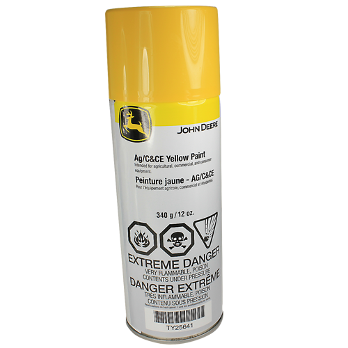 JOHN DEERE #TY25641 AG/C & CE YELLOW SPRAY PAINT - 12 OZ