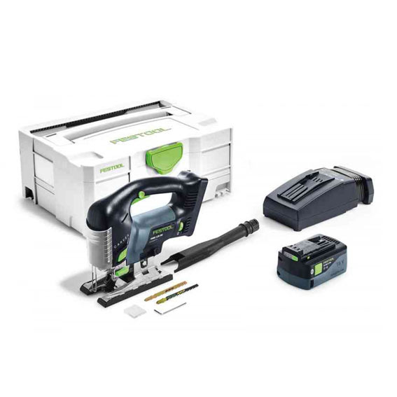 Festool 575682 PSBC 420 5.2 Ah EBI-Plus Cordless D-Handle Carvex Jig Saw
