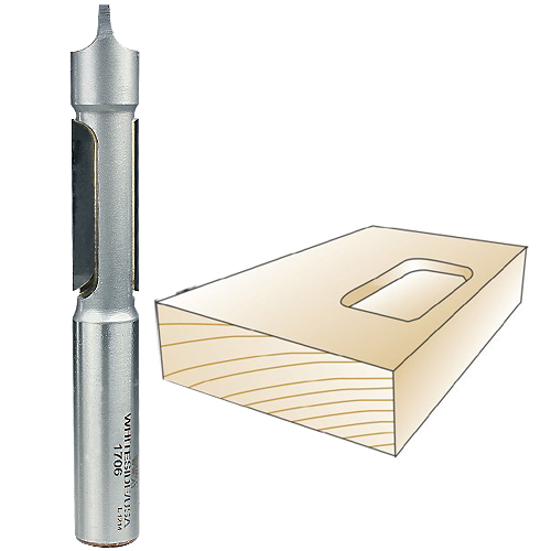 Whiteside 1706 Panel Router Bit with Pilot Plunge Point, 1/2-Inch Shank x 1/2-inch CD x 1-1/4-Inch CL