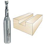 Whiteside #RU4675 Spiral Up Cut Bit - 1/2 SH X 1/4 CD X 3/4 CL