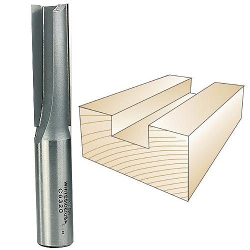 WHITESIDE #C6320 CNC STRAIGHT BIT - 5/8 INCH SHANK X 5/8 INCH CD X 2 INCH CL