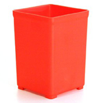 Festool 498038 Red Plastic Systainer Container Boxes - 12 Pk.