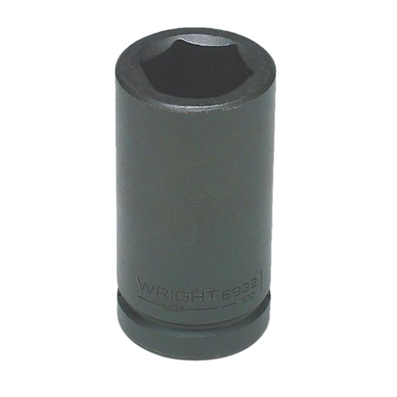 Wright Tool #6958 3/4 Drive 6 Pt. Deep Impact Socket, 1-13/16