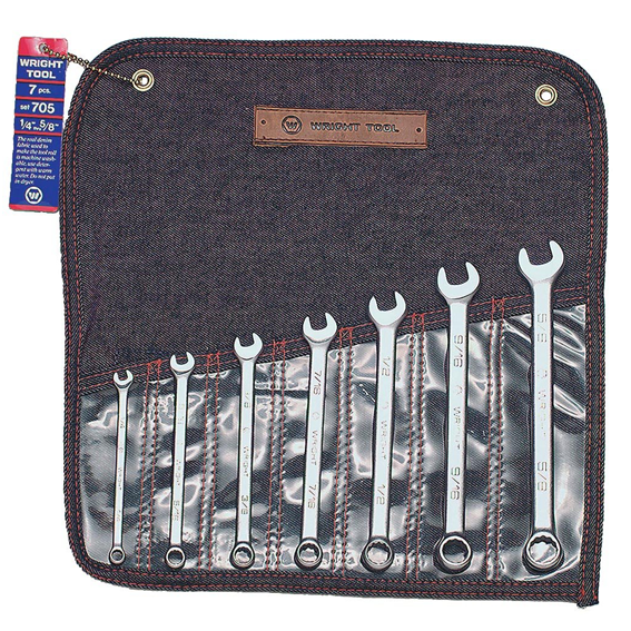 Wright Tool #705 7 Pc  12 Pt  Combination Wrench Set, 1/4 Inch to 5/8 Inch