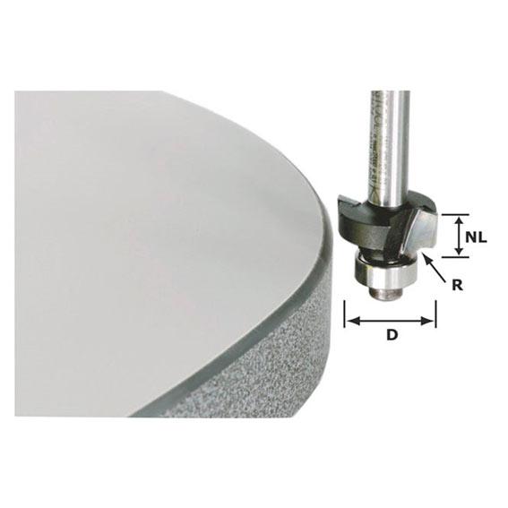 Festool 499797 Roundover Bit w/Bearing, 8mm SH X 3mm R x 10mm CL