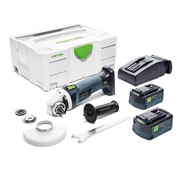 Festool 575348 Cordless Angle Grinder AGC 18-125 Li 5 2 EBI-Plus & Accessories