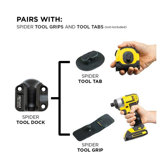 Spider Tool Holster 5025TH Tool Docks - Tool Pairings