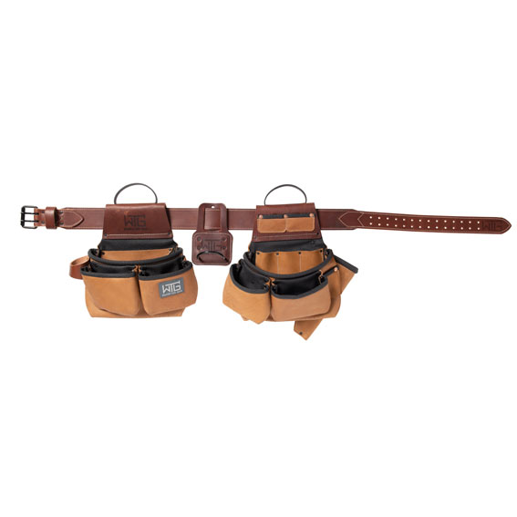 Weaver Leather 85202-45-01 Heavy Leather Roofer Tool Belt, Small / Medium
