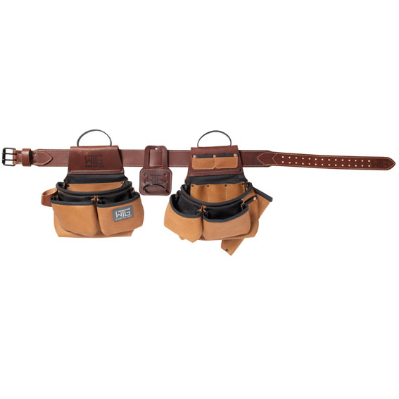 Weaver Leather 85202-65-01 Heavy Leather Roofer Tool Belt, Large / X-Large