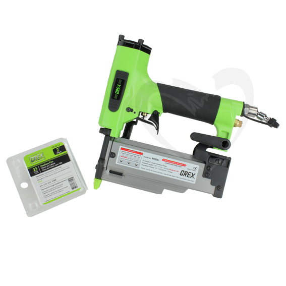 Grex P650L 2-Inch 23 Gauge Headless Pinner with Auto Lock-Out & Free Pins