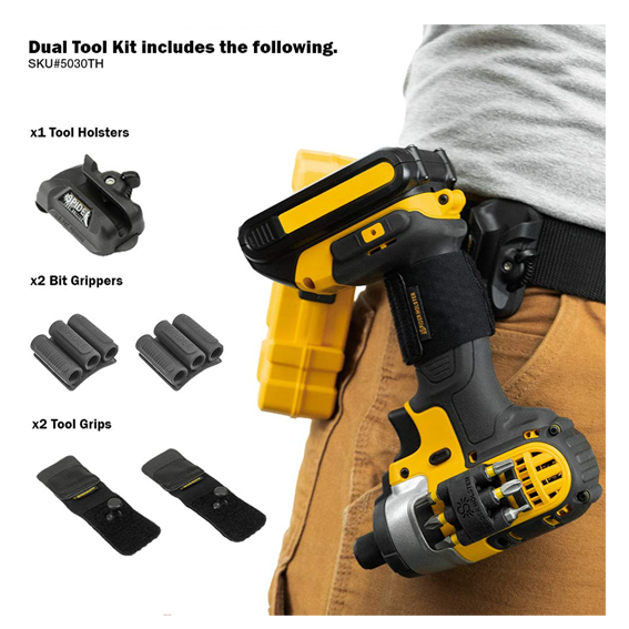 Spider Tool Holster 5 Piece Dual Tool Kit