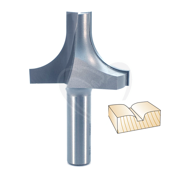 Whiteside 2066 Plunge Round Over with Plunge Point Router Bit, 1/2-Inch Shank X 3/4-Inch R