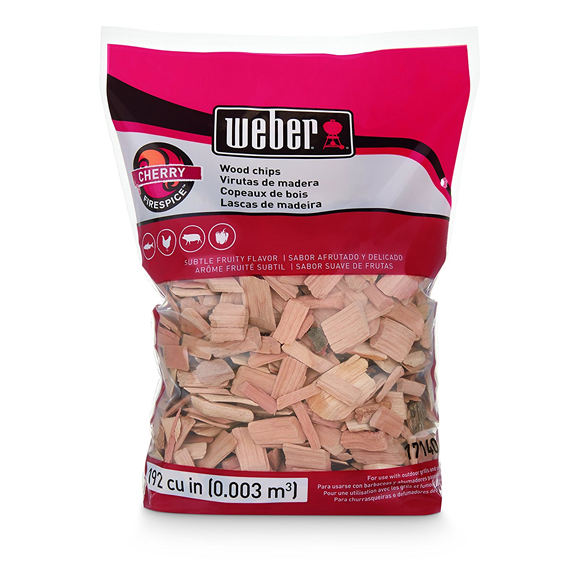 Weber 17140 Cherry Wood Chips, 192 Cu  In