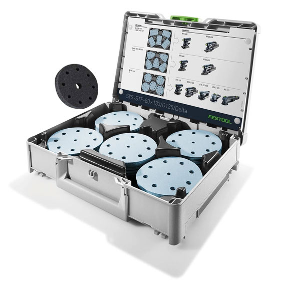 Festool 577126 SYS-STF D125 GR Abrasive Starter Set