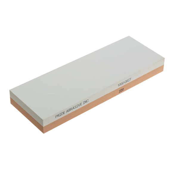 Pride Abrasive Combination 220 / 1000 Grit Water Stone, 8x3x1