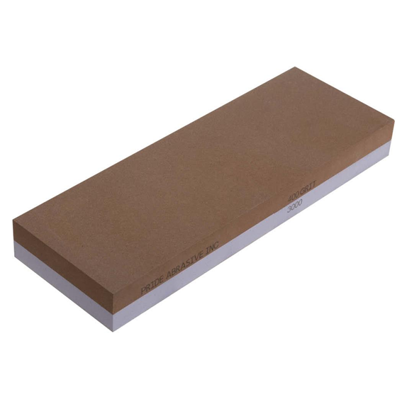 Pride Abrasive Combination 400 / 3000 Grit Water Stone, 8x3x1