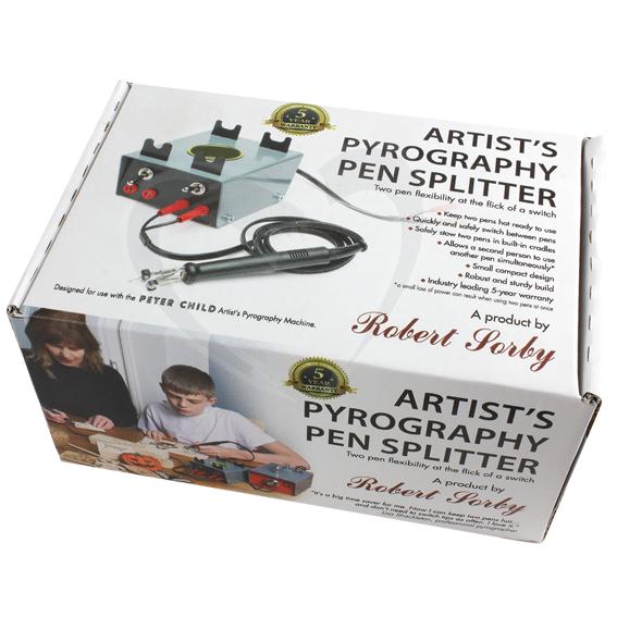 Sorby Artist's Pyrography Pen Splitter & Pen