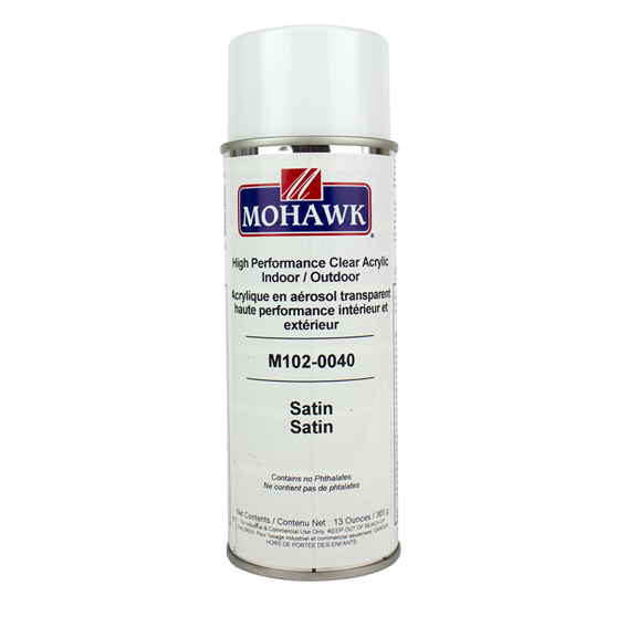 Mohawk M102-0040 High Performance Satin Clear Acrylic Indoor / Outdoor, 13 oz.