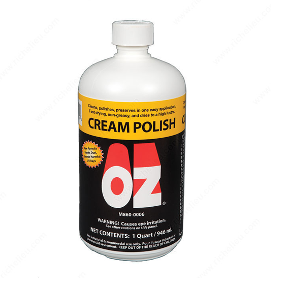 Mohawk M860-0006 OZ Cream Polish, Quart