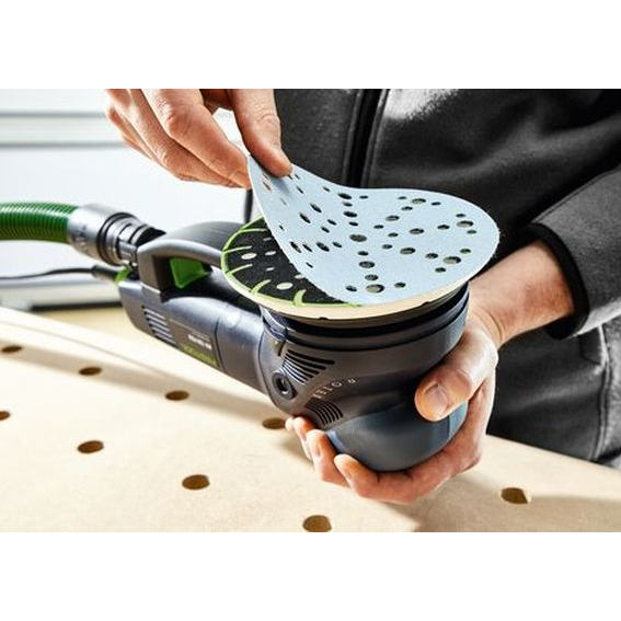 Festool 576028 Multi-Mode Sander ROTEX RO 150 FEQ-Plus MJ2, In Use