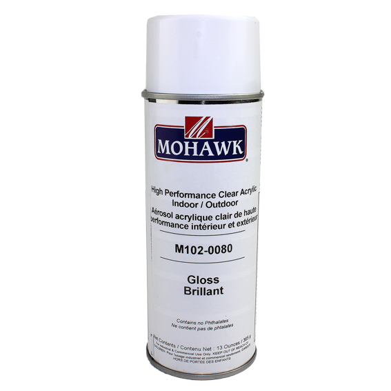 Mohawk M102-0080 High Performance Gloss Clear Acrylic Indoor / Outdoor, 13 oz.