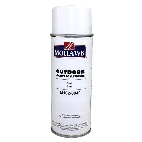 Mohawk M102-0940 Satin Outdoor Acrylic Aerosol, 13 ounce