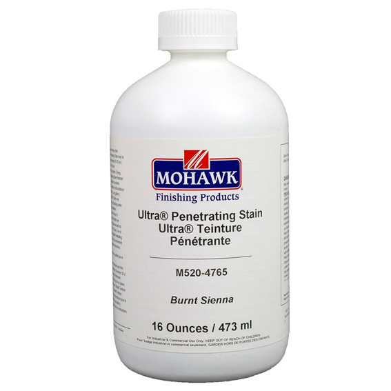 Mohawk M520-4765 Ultra Penetrating NGR Stain Burnt Sienna, Pint