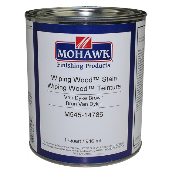 Mohawk M545-14786 Wiping Wood Stain Van Dyke Brown, Quart