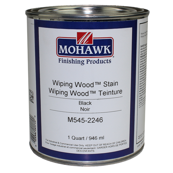 Mohawk M545-2246 Wiping Wood Stain Black, Quart